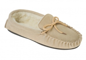 M001 - Mens wool lined lace up moccasin
