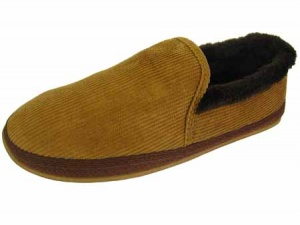 G046 - Mens Cord Full Back Slipper