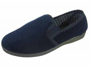 M041 - Mens Velour Full Back Slipper