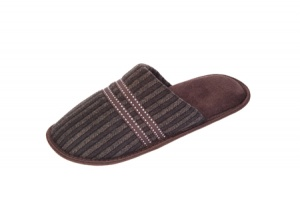 M022 - Mens Striped A Line Mule.