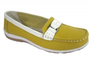 L035 - ''Summer Fruits''  Touch Fastening Leather Shoe