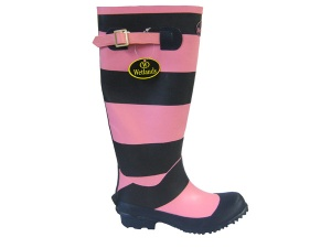 L072 - Ladies Striped Rubber Welly