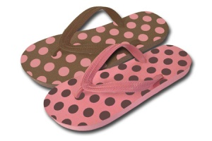 L094 - Ladies Spot Design Toe-Post