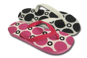 L093 - Ladies Multi Spot Toe-Post