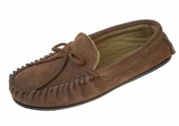 M005 - Mens Polar Fleece lined suede moccasin