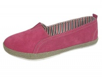 L042 - ''Summer Fruits''  Suede Leather Slip On.