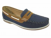 L077 - Ladies Bar Loafer Style Deck Shoe
