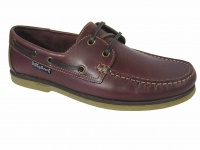 M004 - Mens Real Leather Lace Up Deck Shoe