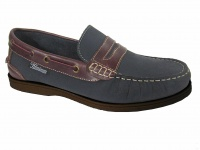 M006 - Mens Loafer Style Leather Deck Shoe