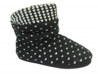 W085 - Ladies Ruched Knitted Boot