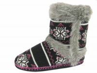 W087  - Ladies Knitted Boot