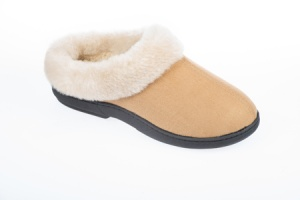 W091 - Ladies Faux Fur Collar Ski Back Mule