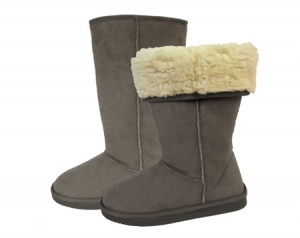 W098 - Ladies Microsuede Turn Down Boot