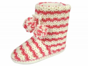 W100 - Ladies Striped Knitted Boot