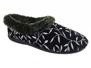 W123 - Ladies Corded Textile Mule
