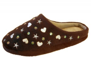 W122 - Ladies Towelling Slipper